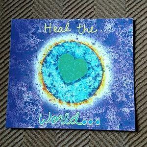 Heal the World tie dye magnet. Penzeys.